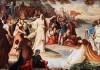 Die Ankunft des Schwanenritters Lohengrin in Worms, August von Heckel, Neuschwanstein, Wohnzimmer des Königs, 1882/83