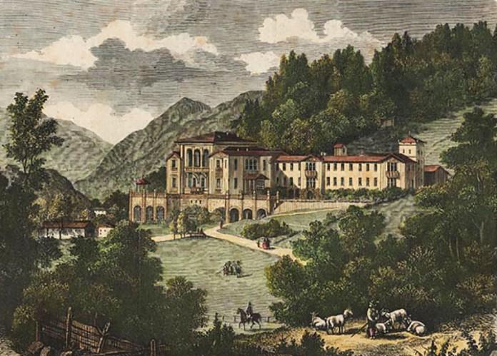 Koenigliche Villa in Berchtesgaden, Faksimile nach einem nach einem kolorierten Stich, 1860