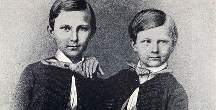 Kronprinz Ludwig und Prinz Otto im Alter von 10 und 7 Jahren