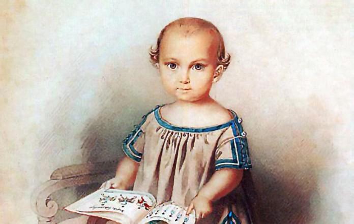 Erbprinz Ludwig als Baby