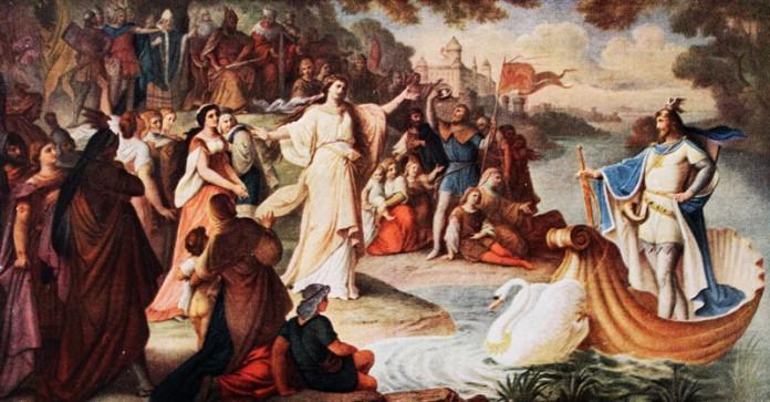 Die ersten Planungen sahen keine Wandgemälde in den Zimmern Neuschwansteins vor. Bilder wie die des freudig in Brabant erwarteten Schwanenritters Lohengrin hätte es so nie gegeben.