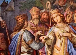 Das Bildprogamm in der königlichen Wohnung wird durch die Lohengrin-Sage bestimmt.