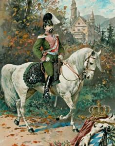 König Ludwig II. von Bayern als Reiter