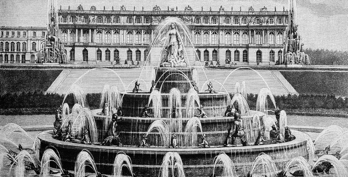 Das Neue Schloss Herrenchiemsee in einer Zeichnung aus dem Jahre 1887