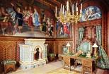 Schloss Neuschwanstein Arbeitszimmer von König Ludwig II. (1) - Kolorierte Fotografie