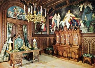 Arbeitszimmer in der königlichen Wohnung, Schloss Neuschwanstein