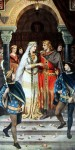 Parzival kommt der belagerten Königin Condwiramur zur Hilfe. Er erwirbt ihre Hand und ihr Reich.