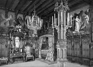 Bis zur Abreise nach Schloss Berg wird König Ludwig II. in seinem Schlachgemach festgehalten.