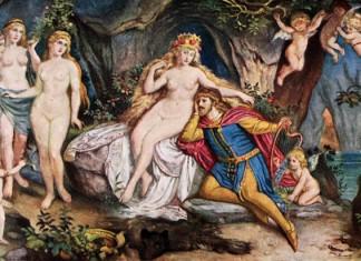 Tannhäuser im Hörselberg ist der Liebesgöttin Venus überdrüssig.