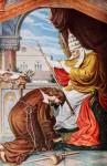Als Büßer tritt Tannhäuser vor den Papst. Der Papst verflucht ihn.