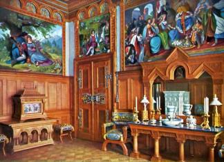 Ankleidezimmer in der königlichen Wohnung, Schloss Neuschwanstein