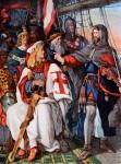 Walter von der Vogelweide ist gemeinsam mit Herzog Friedrich von Oesterreich auf Kreuzfahrt
