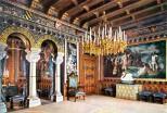 Schloss Neuschwanstein Wohnzimmer von König Ludwig II. (1) - Kolorierte Fotografie