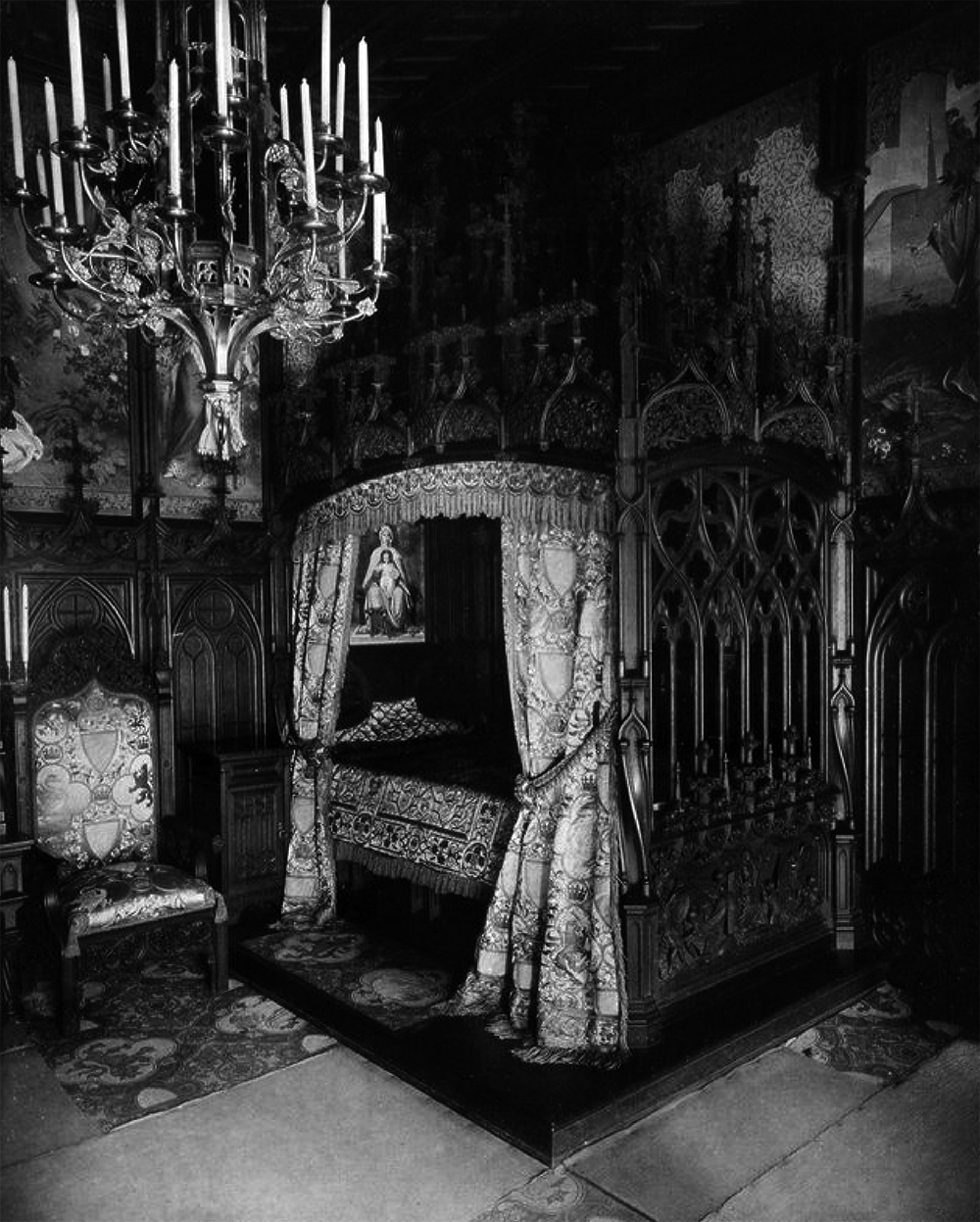 Schlafzimmer – Schloss Neuschwanstein – Ein Traum im ...