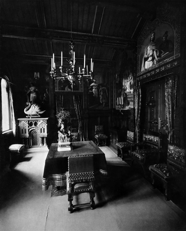 Ansichten der königlichen Wohnung von Ludwig II. in Schloss ...